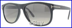 Tom Ford Olivier TF236 02D Matte Black Men's Polarized Soft Square Sunglasses
