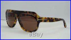 Tom Ford Omar TF 465 56J Tortoise Aviator Sonnenbrille Sunglasses Brown Lens 59m