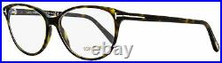 Tom Ford Oval Eyeglasses TF5421 052 Dark Havana 55mm FT5421
