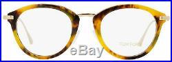 Tom Ford Oval Eyeglasses TF5497 055 Vintage Havana/Gold 48mm FT5497