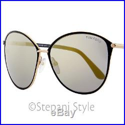 09ab9cbc0d7aa Tom Ford Oval Sunglasses TF320 Penelope 28C Gold Black 59mm FT0320