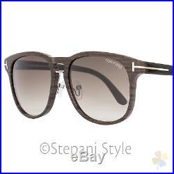 09137d6fe00 Tom Ford Oval Sunglasses TF346 Franklin 05K Wood Effect Black FT0346