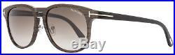 Tom Ford Oval Sunglasses TF346 Franklin 05K Wood Effect/Black FT0346