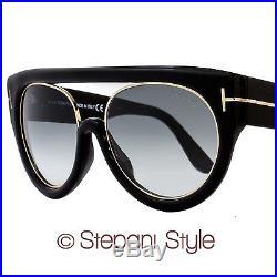 87b8808e18e Tom Ford Oval Sunglasses TF360 Alana 01B Black Rose Gold FT0360