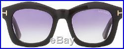 Tom Ford Oval Sunglasses TF431 Greta 01Z Black/Gold 50mm FT0431