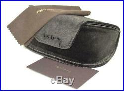 Tom Ford Oval Sunglasses TF461 Emma 05W Black/Iridescent Chalkstripe 56mm FT0461