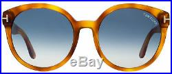 Tom Ford Oval Sunglasses TF503 Philippa 53W Blonde Havana FT0503