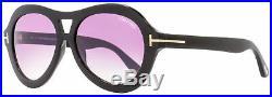Tom Ford Oval Sunglasses TF514 Isla 01Z Black 56mm FT0514