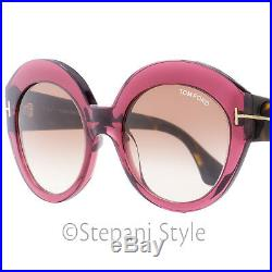 Tom Ford Oval Sunglasses TF533 Rachel 71F Burgundy/Havana 54mm FT0533