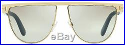 Tom Ford Oval Sunglasses TF570 Stephanie-02 28G Gold/Havana 60mm FT0570