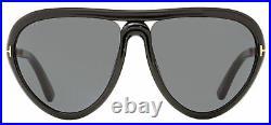 Tom Ford Oval Sunglasses TF769 Arizona 01A Black/Gold 59mm FT0769