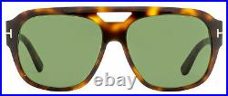 Tom Ford Oversize Sunglasses TF630 Bachardy-02 52N Dark Havana 61mm FT0630