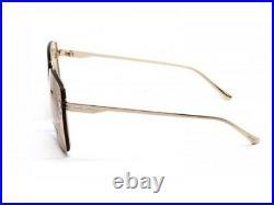 Tom Ford PENN FT0655 TF 655 28E Shiny Rose Gold Brown Lens Men Women Sunglasses