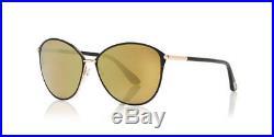 Tom Ford Penelope FT0320 28G Black Shiny Rose Gold Frame / Brown Mirror Lenses