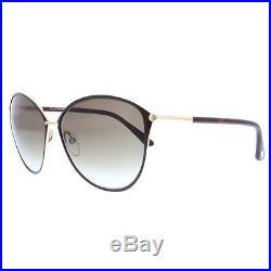 11abb989cd741 Tom Ford Penelope TF 320 28F Gold Havana Brown Gradient Women Cat eye  Sunglasses