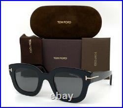 Tom Ford Pia FT0659 01A Shiny Black / Smoke 48mm Sunglasses TF0659