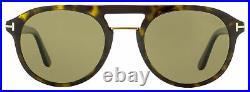 Tom Ford Pilot Sunglasses TF675 Ivan-02 52H Dark Havana/Gold Polarized 52mm FT06