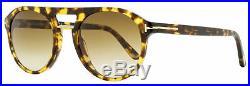 Tom Ford Pilot Sunglasses TF675 Ivan-02 55F Vintage Havana/Gold 52mm FT0675