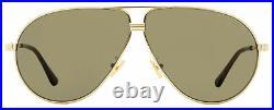Tom Ford Pilot Sunglasses TF734H Jet 28E Gold/Havana 64mm FT0734