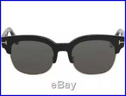 Tom Ford Polarized Harry-02 TF 597 01D Black Gold Dark Grey Men Sunglasses New