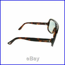 Tom Ford Porfirio TF 559 56A Dark Havana Plastic Shield Sunglasses Light Grey