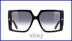 Tom Ford QUINN FT 0790 Shiny Black/Dark Grey Shaded (01B G) Sunglasses