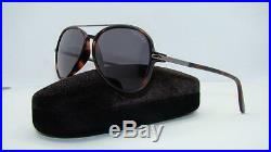 Tom Ford Ramone TF 149 54A Dark Havana Aviator Sunglasses Grey Lens Size 58