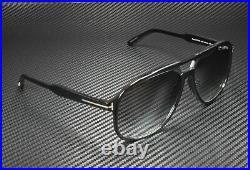 Tom Ford Raoul FT0753 01B Shiny Black Gradient Smoke 62 mm Men's Sunglasses