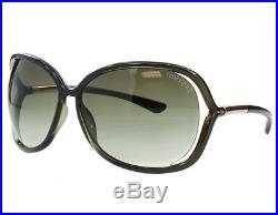 Tom Ford Raquel FT0076 U54 Women Gradient Olive Green Square Semi-Rim Sunglasses