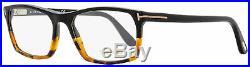 Tom Ford Rectangular Eyeglasses TF5295 056 Black/Vintage Havana 56mm FT5295