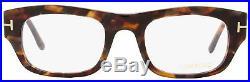 Tom Ford Rectangular Eyeglasses TF5415 054 Size 50mm Red Havana/Gold FT5415