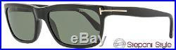 Tom Ford Rectangular Sunglasses TF337 Hugh 01N Shiny Black Polarized FT0337