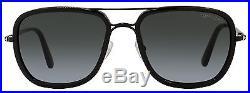 Tom Ford Rectangular Sunglasses TF340 Riccardo 01P Shiny Black FT0340