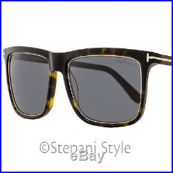 Tom Ford Rectangular Sunglasses TF392 Karlie 52J Havana/Dark Bronze FT0392