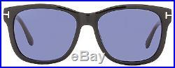 Tom Ford Rectangular Sunglasses TF395 Cooper 01V Shiny Black/Havana FT0395