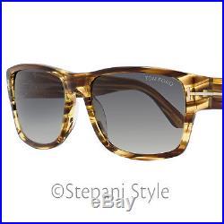 Tom Ford Rectangular Sunglasses TF445 Mason 50B Size 58mm Brown/Striped Honey F