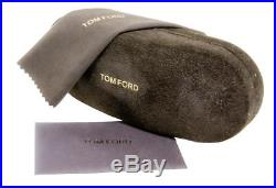 Tom Ford Rectangular Sunglasses TF445F Mason 50B Brown Striped Honey FT0445F