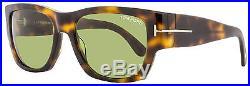 Tom Ford Rectangular Sunglasses TF493 Stephen 52N Dark Havana/Gold FT0493