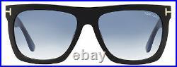 Tom Ford Rectangular Sunglasses TF513 Morgan 01W Black 57mm FT0513