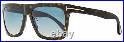 Tom Ford Rectangular Sunglasses TF513 Morgan 52W Dark Havana 57mm FT0513