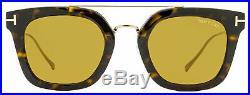 Tom Ford Rectangular Sunglasses TF541 Alex-02 52E Dark Havana/Gold 51mm FT0541