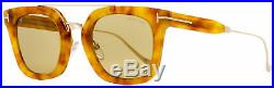 Tom Ford Rectangular Sunglasses TF541 Alex-02 53E Blonde Havana 51mm FT0541