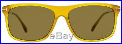 Tom Ford Rectangular Sunglasses TF588 Max-02 39J Transparent Honey 57mm FT0588