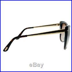 Tom Ford Reveka FT 0512 52G Dark Havana Gold Sunglasses Brown Mirror Lens