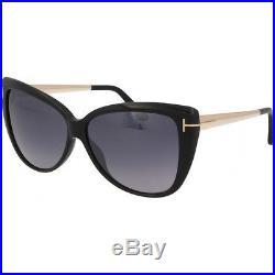 Tom Ford Reveka Tf512 01c Silver Mirror Black Sunglasses Titanium Gradient New