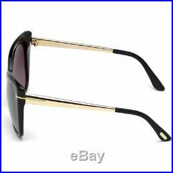 Tom Ford Reveka Women Sunglasses Black withGrey Lens FT0512 01C