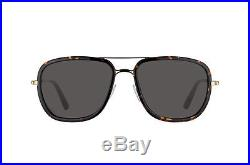 Tom Ford Riccardo Sunglasses Rose Gold Dark Havana Torte Grey Brown Ft 0340 28n