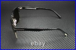 Tom Ford River FT0367 01D Shiny Black Smoke Polarized 57 mm Men's Sunglasses