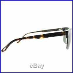 Tom Ford River TF 367 02B Matte Black Metal Square Sunglasses Grey Gradient Lens