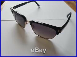 Tom Ford River polarised vintage square TF 367 01D Matte Black sunglasses